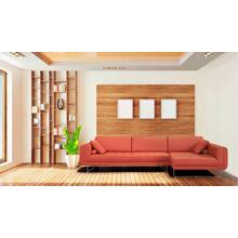 Divani Casa Katie Modern Orange Italian Leather Sectional Sofa