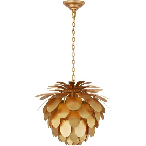Visual Comfort CHC5163G E. F. Chapman Cynara 1 Light 17 inch Gild Chandelier Ceiling Light, Small