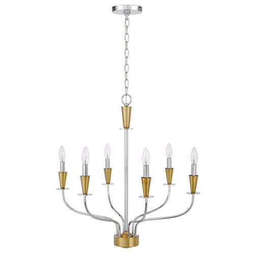 60W x 4 Weston metal chandelier