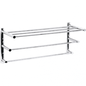 Techno - Three Tier Towel Shelf - Polished Chrome