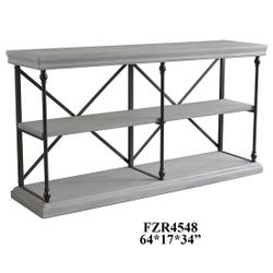 Hanover Metal and White Wood Console