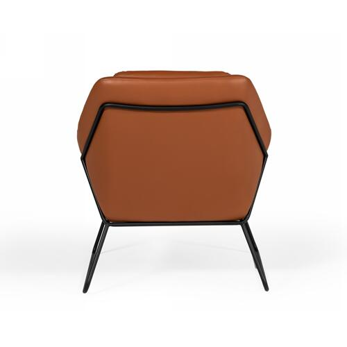 Modrest Jennifer - Industrial Brown Eco-Leather Accent Chair