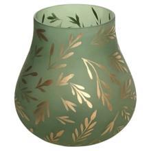 Lila Large Sage Satin Glass Vase