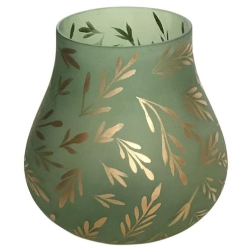 Crestview Collections - Lila Large Sage Satin Glass Vase