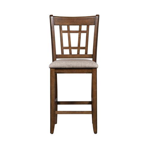 24 Inch Lattice Back Counter Chair