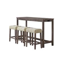 Oak Lawn Multipurpose Bar Table Set in Grey