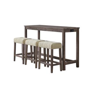 See Details - Oak Lawn Bar Table Single Pack (Table + Three Stools) Grey