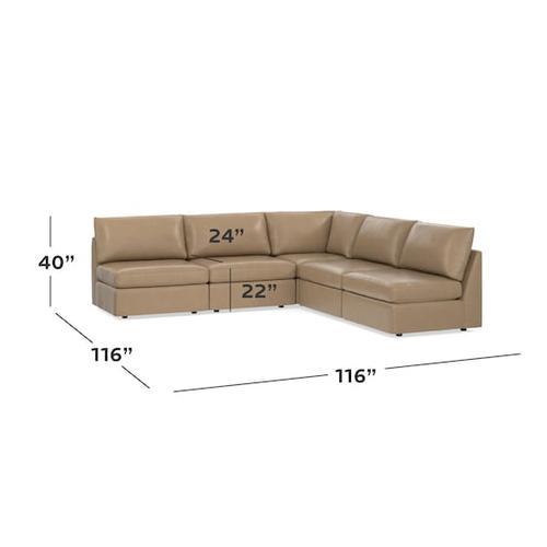 Bassett Furniture - Beckham Leather L-Shaped Sectional