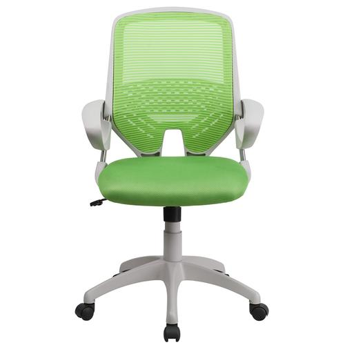 Mid-Back Green Mesh Swivel Task Chair with Arms