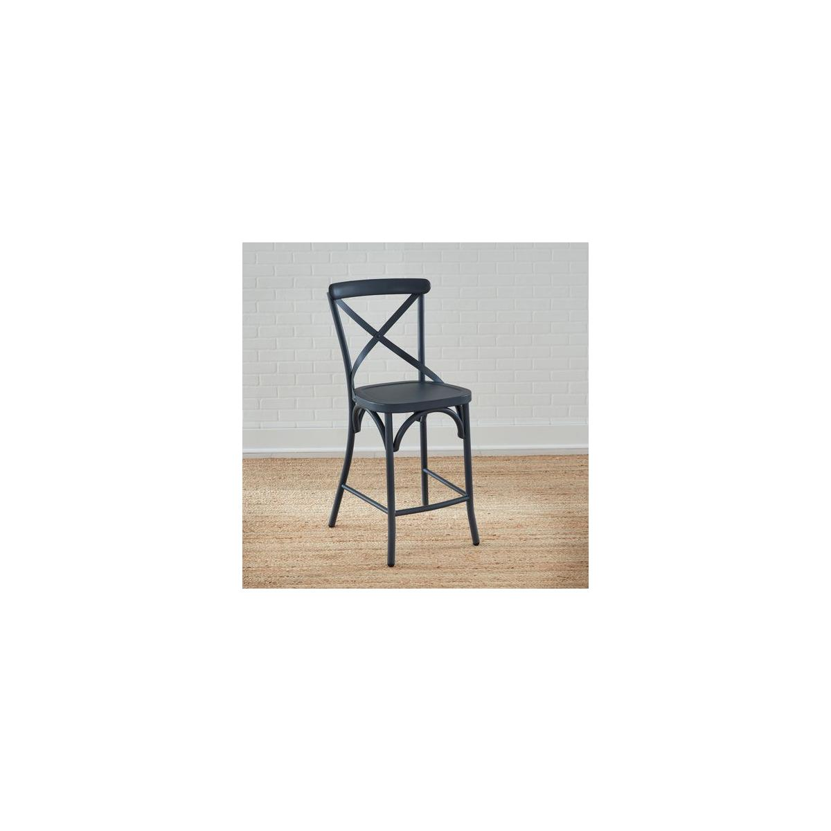 X Back Counter Chair- Navy