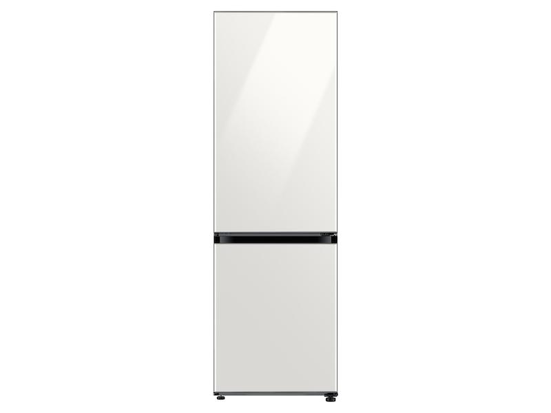 Samsung12.0 Cu. Ft. Bespoke Bottom Freezer Refrigerator With Customizable Colors And Flexible Design In White Glass