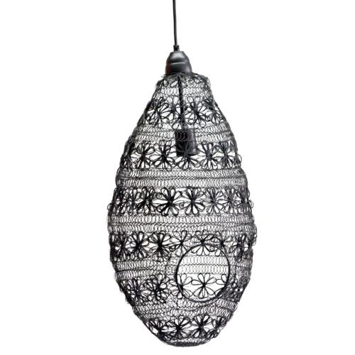 A & B Home - Wire Weave Pendant Lamp