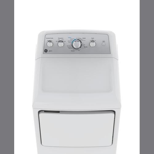 GE Allura 7.2 Cu.Ft. DuraDrum2 Top Load Electric DryerWhite GTD42EBAKWS