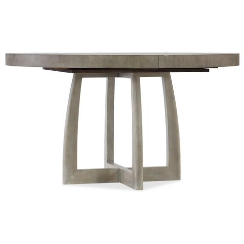 Affinity 48in Round Pedestal Dining Table w/1-18in Leaf