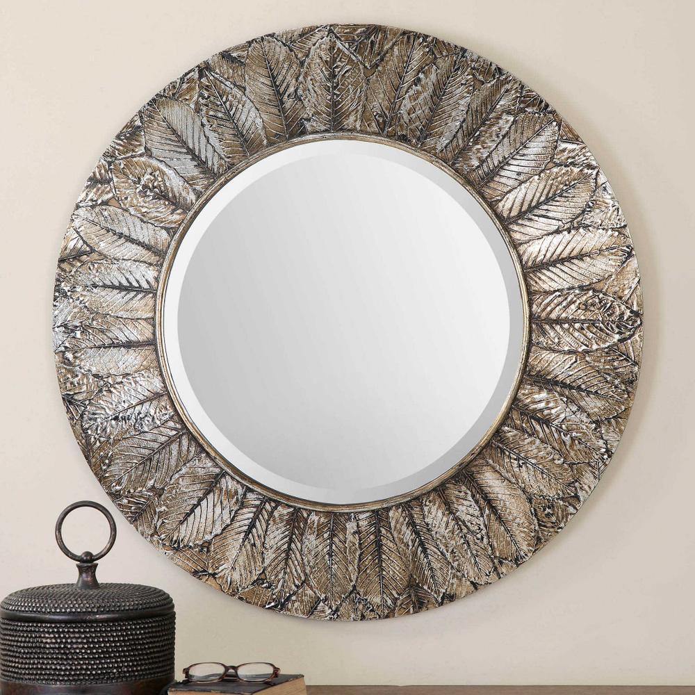 See Details - Foliage Round Mirror