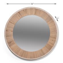 Circular Wood Mirror, Med