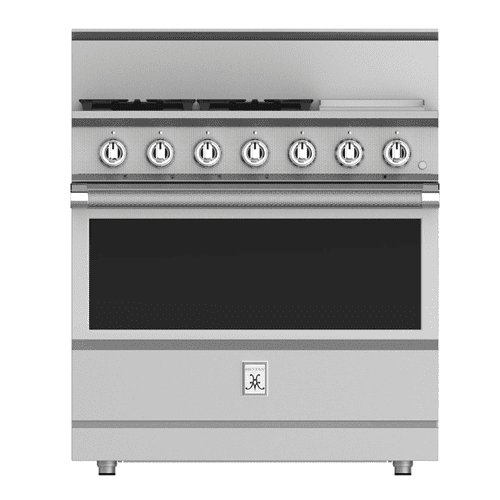 "36"" 4-Burner All Gas Range with 12"" Griddle - KRG Series - Lush"