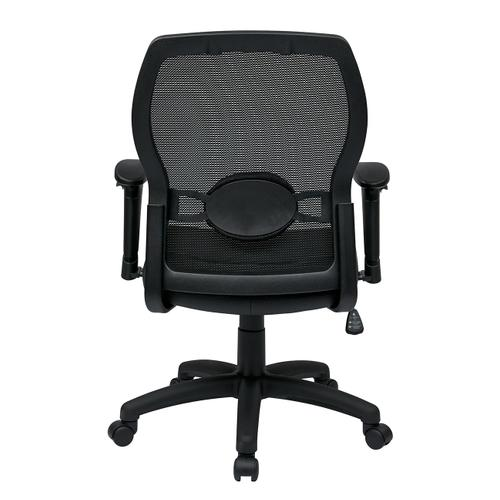 Woven Mesh Back and Leather Seat