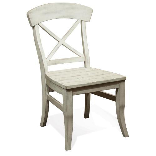 Regan - X-back Side Chair - Farmhouse White Finish
