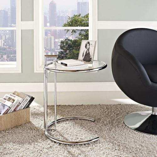 Modway - Eileen Gray Chrome Stainless Steel End Table in Silver