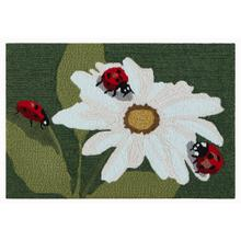 Liora Manne Frontporch Ladybugs Indoor/Outdoor Rug Green