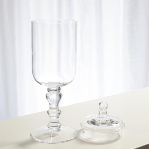 Apothecary Glass Jar-Optic-Sm