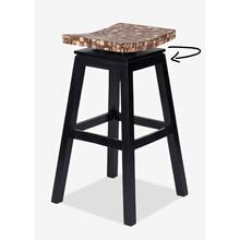 (LS) Cordova Bar Stool w/ Coconut top - Natural Bliss (17x17x30) (Assembly Required)