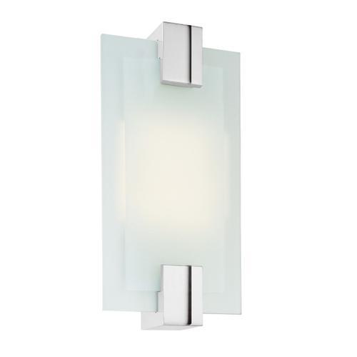 Sonneman - A Way of Light - Dakota Fluorescent Sconce [Color/Finish=Polished Chrome, Shape=Rectangle]