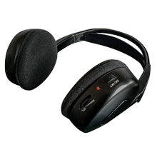 Dual channel wireless fold-flat headphones
