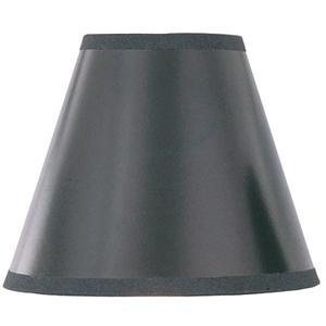 "Candelabra Shade/black W.GOLD Liner - 3.5""TX7""BX6""SH"