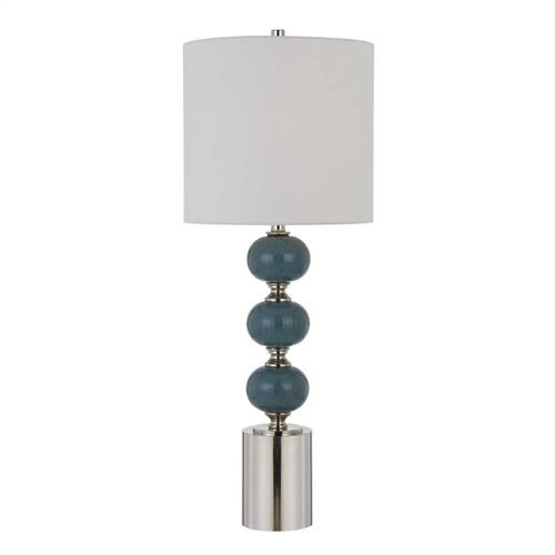Malaga 150W 3 Way Ceramic Table Lamps (Sold And Priced As Pairs)
