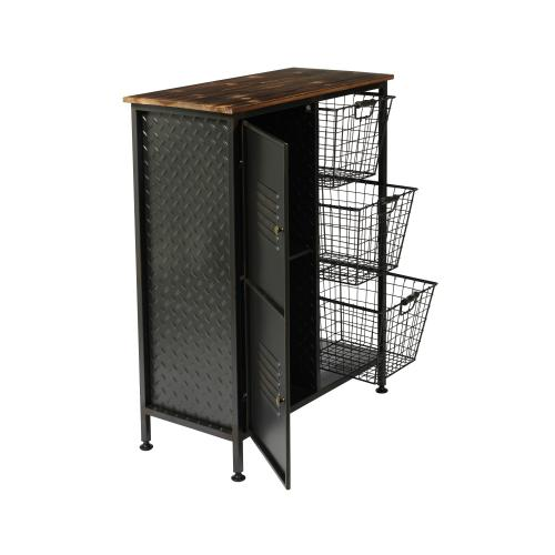 Emerald Home Ac352 Manchester Accent Cabinet, Aged Metal