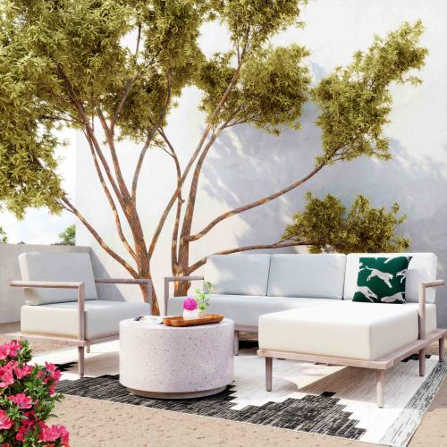 Tov Furniture - Emerson Cream Outdoor Sectional - RAF