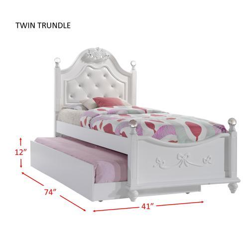 Alana Twin Platform Bed w/ Storage Trundle