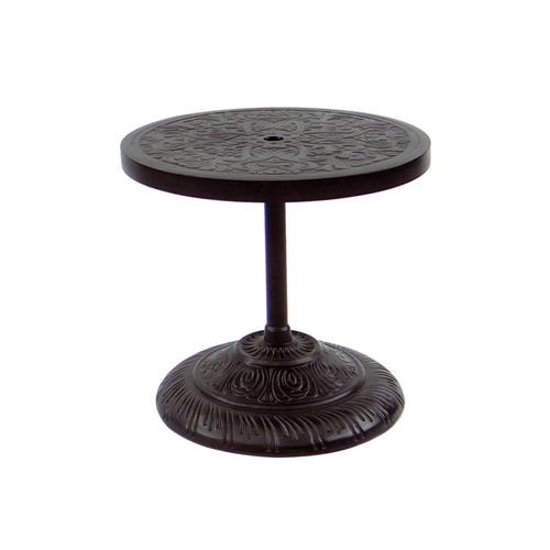 """Castelle - 24"""" Orion Round Cast Top Side Table"""