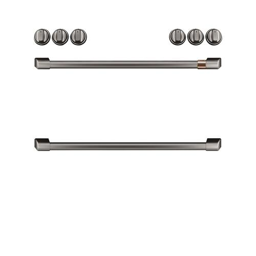Café Front Control Gas Knobs and Handles - Brushed Black