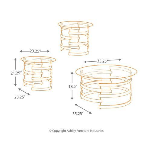 Kaymine Table (set of 3)