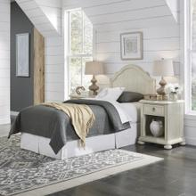 Chambre Twin Headboard and Two Nightstands