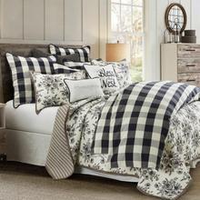 See Details - Camille Comforter Set, Black - Full