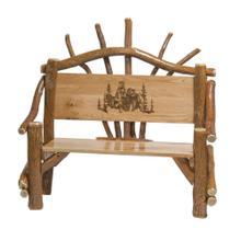 Amish 4FT.PARK Bench W/bear Scene-oak/aspen