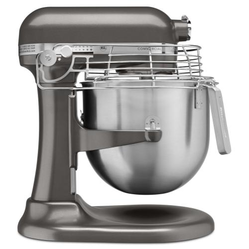 NSF Certified® Commercial Series 8 Quart Bowl-Lift Stand Mixer with Stainless Steel Bowl Guard - Dark Pewter