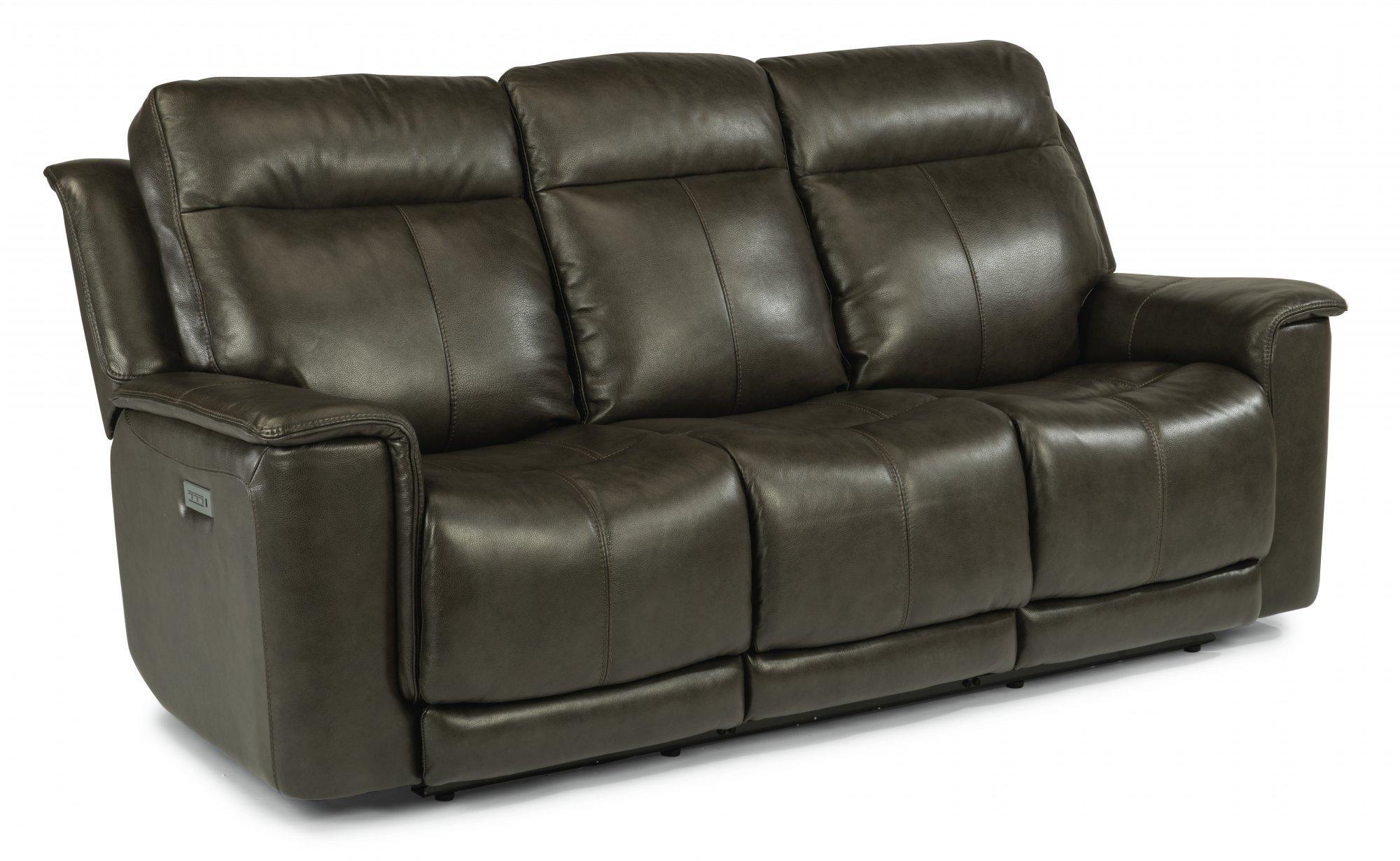 FlexsteelMiller Power Reclining Sofa With Power Headrests & Lumbar
