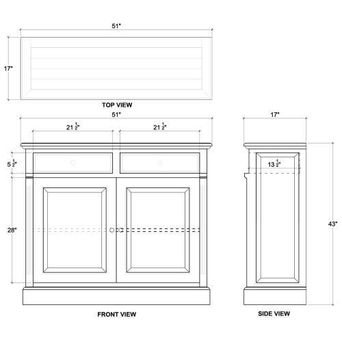Hudson 2 Door Sideboard