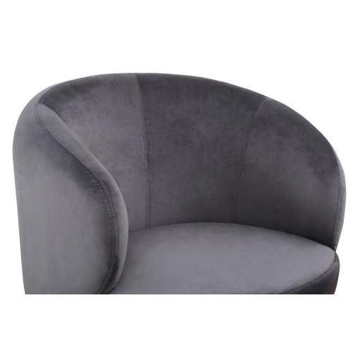 Bella Grey Velvet Chair