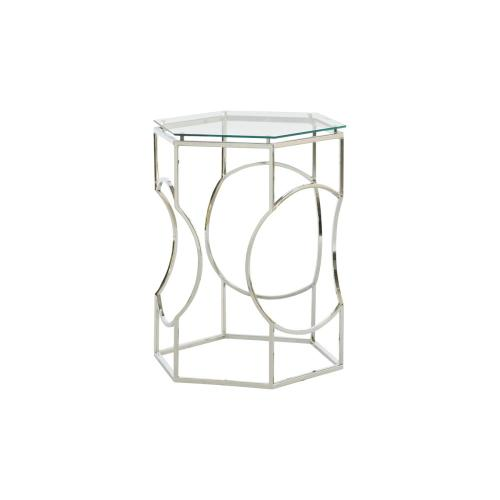 Chrome Hex Wire Accent Table
