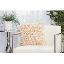 "Shag Dl658 Beige 16"" X 16"" Throw Pillow"