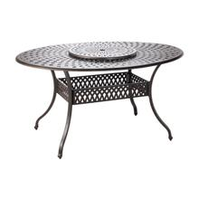 """Westbury Duo 70""""Oval Egg Gathering Table with Lazy Susan and Umbrella Hole"""