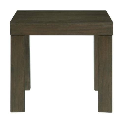 Grady Square End Table in Dark Walnut