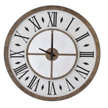 Wood Framed Roman Numeral Wall Clock