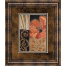 """Orange Burst Il"" By Rosie Abraham Framed Print Wall Art"